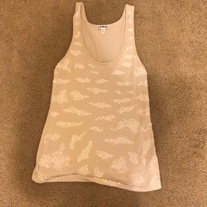 Beige sequined- detailed tank